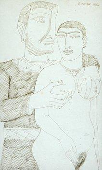 24E: Francis Newton Souza (1924-2002) the lovers, 1952