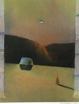 89E: David Blackburn (B. 1939) ant hill, stone and shad