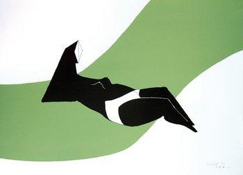 23A: Chadwick (Lynn) reclining figure green wave