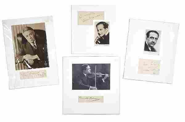 Kresiler, Fritz & Others - Three ink signatures by