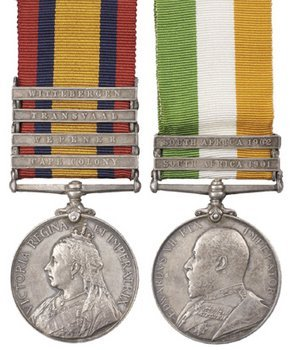18C: A rare Boer War Pair to Trooper R.H.Rowe, South Af