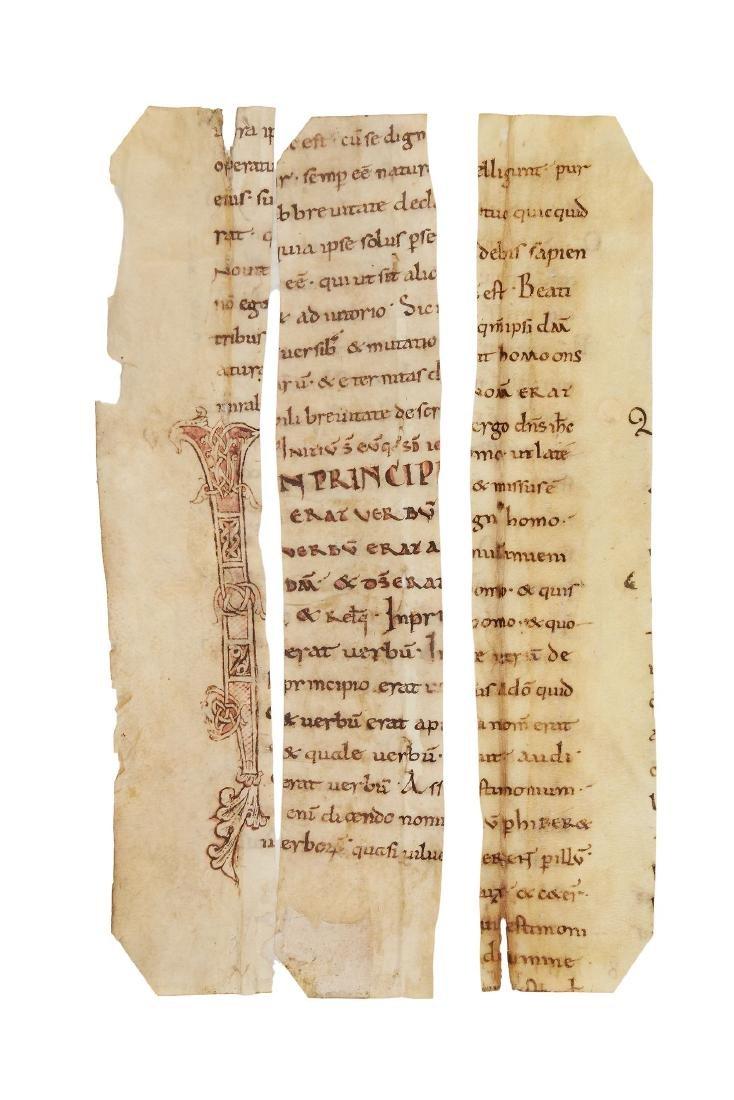 Three cuttings from a large Carolingian Theological