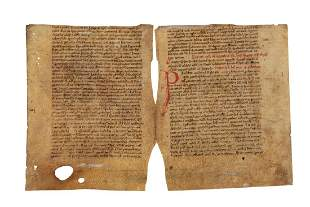 Bifolium from a manuscript of the Pauline Epistles in