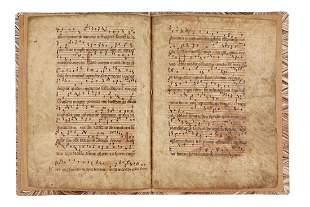 Bifolium from an Antiphonary Use of Sarum with Mass