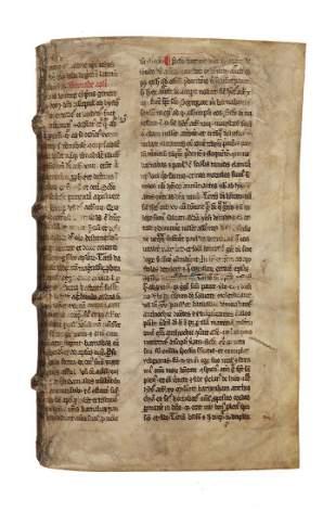 Bifolium from Jacobus de Voragine Legenda Aurea in