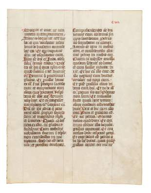 Leaves from liturgical manuscripts in Latin