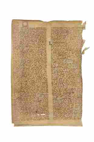Leaf from a mathematical text on the properties of