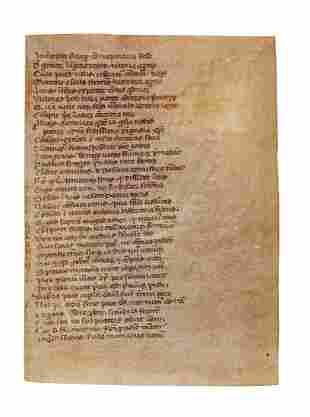 Prudentius Psychomachia in Latin verse manuscript