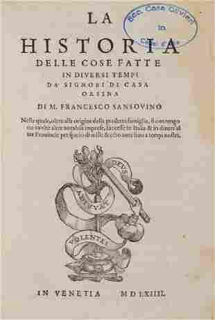 Sansovino Francesco La Historia