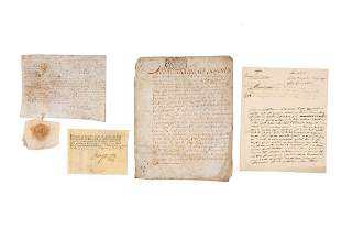 Manuscripts printed docs Large collection of legal
