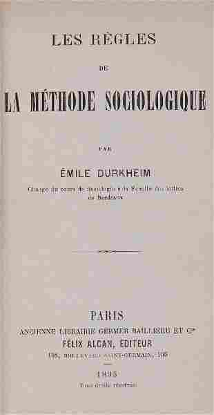 Durkheim Emile Les Regles de la Methode