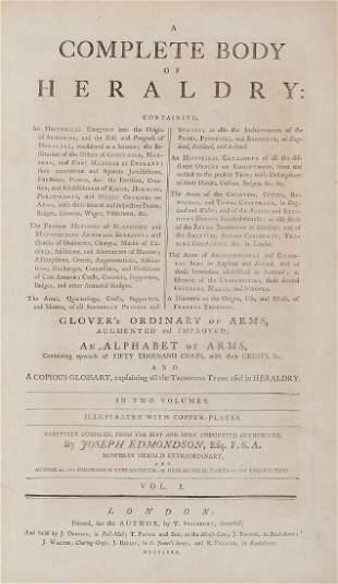 Edmondson Joseph A Complete Body of Heraldry