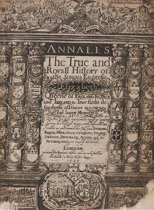 Camden William Annales the true and royall