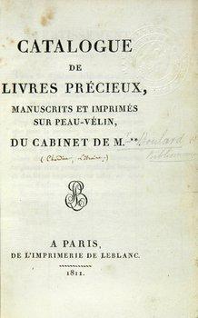 22C: Sale cats.Chardin.1811 + Motteley,1824