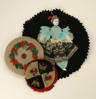 6C: SIX CLOTH PENWIPES, English, 1880s-1900