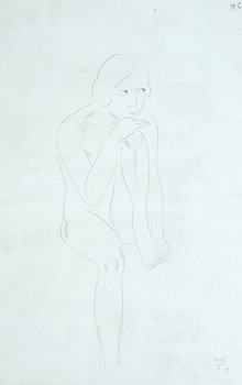 6D: Eric Gill (1882-1940) seated nude, 1928