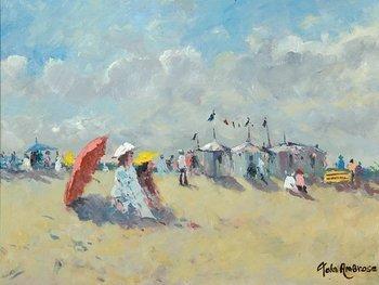 10D: John Ambrose (B. 1931) beach scene