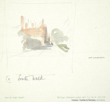 14D: Sir Hugh Casson (1910-1999) three sketches for a c