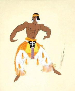 17D: Erté (1892-1990) costume aztec, 1937