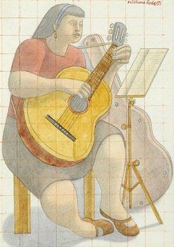 20D: William Roberts RA (1895-1980) sarah with a guitar