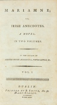 546C: Mariamne; or, Irish Anecdotes..