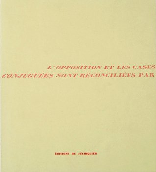 16D: LÕOpposition et Les Cases ConjuguŽes, 1st Ed