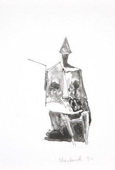 19B: Lynn Chadwick (1914-2003) seated figure