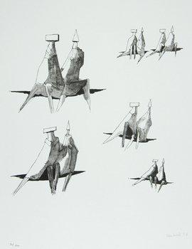 21B: Lynn Chadwick (1914-2003) six seated figures