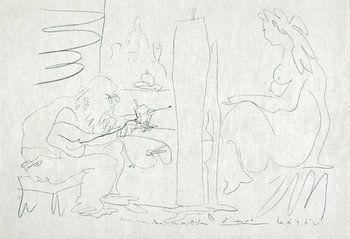 372B: Pablo Picasso le peintre et son modèle