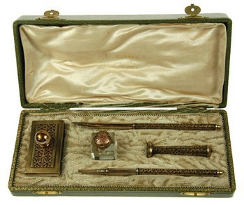 7C: A five-piece filigree writing set