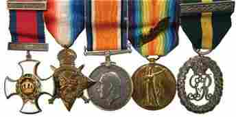 510C A First World war DSO group of four to Lt Col