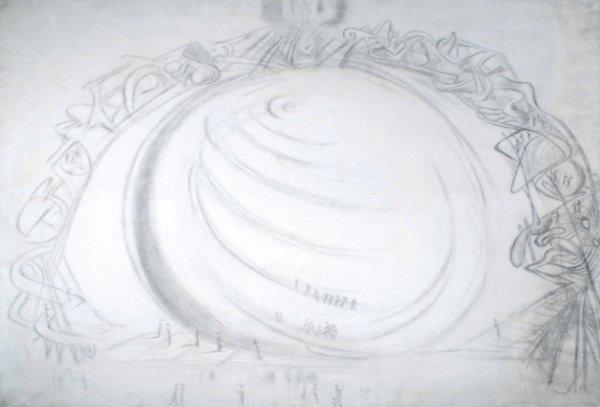 1E: Salvador Dali (1904-1989) figures ascending a spir