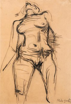 14E: Philip Guston (1913-1980) standing nude, 1954