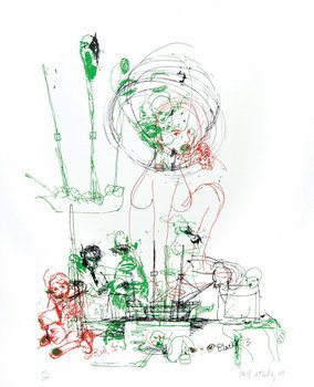 18E: Paul Mccarthy, red, green, black, 2005