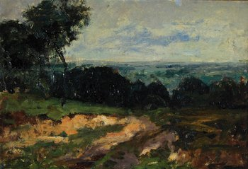 8B: Dobson (Frank) Attributed to. rural landscape