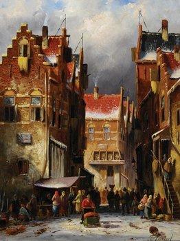 22B: Leickert (Charles) Dutch market in winter