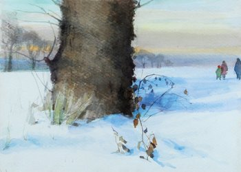 49B: Carr (Thomas, OBE) Walking in the Snow
