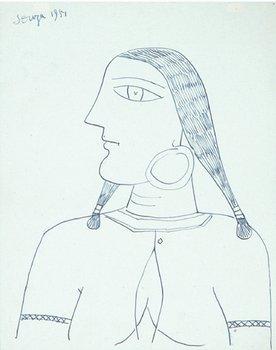 1A: Francis Newton Souza (1924-2002) head of an indian