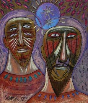 5A: Francis Newton Souza (1924-2002) two men, 1959