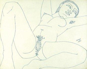 6A: Francis Newton Souza (1924-2002) untitled (reclini