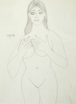 9A: Francis Newton Souza (1924-2002) untitled (female