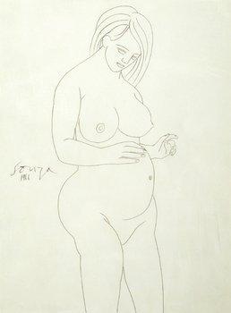 10A: Francis Newton Souza (1924-2002) untitled (pregnan