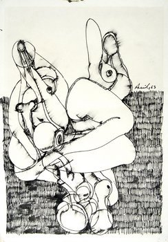 14A: Avinash Chandra (1931-91) untitled (composition wi
