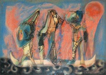 22A: Henri Edion (1905-1987) three in a boat, 1963