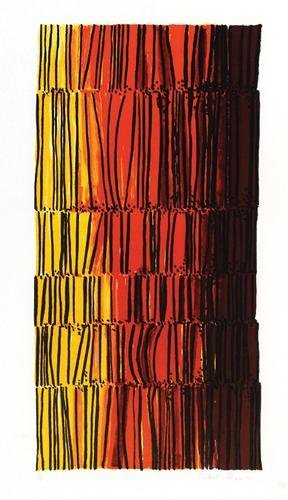 11B: Robert Adams, yellow and orange abstract