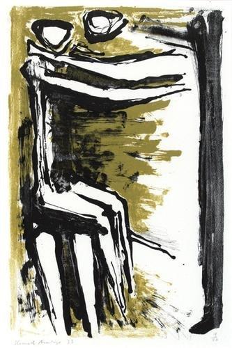 12B: Kenneth Armitage (1916-2002) seated figures