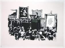 501B: Banksy (b.1975) morons (white)