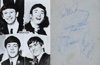 9C: Beatles, An early composite photograph, sgd