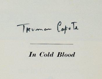 15C: Capote (Truman) In Cold Blood