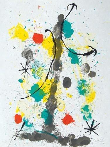 4D: Miró.Quelques fleurs..,1/75,4 orig.col.liths,1964